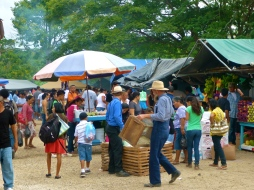 Belizean Mennonites at the San Ignacio market