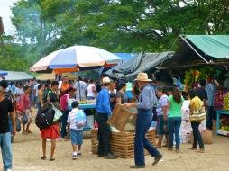 Belizean Mennonites at the San Ignacio market