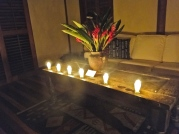 Candlelight turn-down service