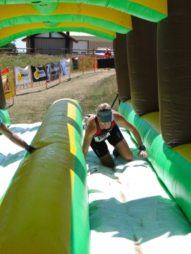 Trying to slide on the slip-n-slide
