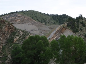 The mining operation at Floyd Hill
