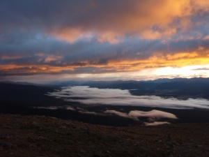 Sunrise at Mt Elbert