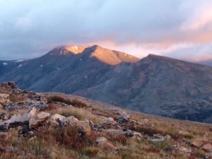 Alpenglow at Mt Elbert`x`